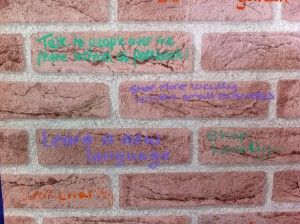 One of the messages people have written onto our Travelling Wall of small steps they plan to take to improve the local area.