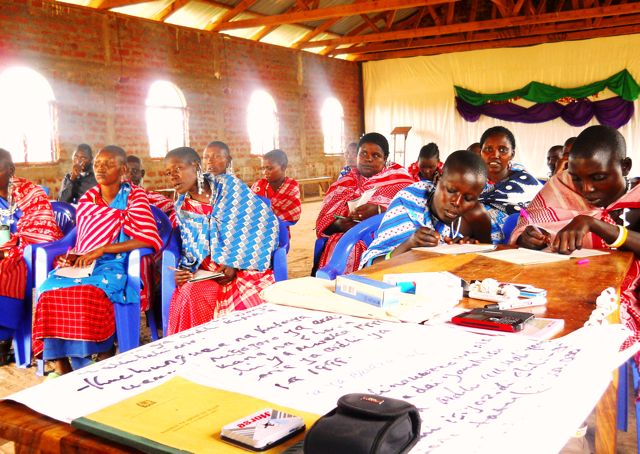 UCRT Womens Rights Workshop Ngorongoro District, Tanzania.