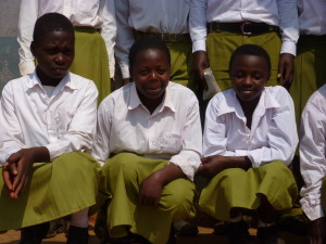 Girls at Makwema Secondary School Health Club, in the Kilolo district of Tanzania.