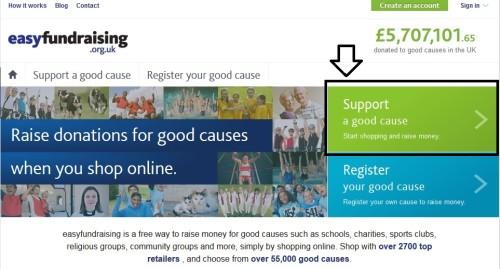 Easyfundraising - Step 1