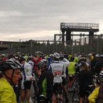 Grey skies at the start