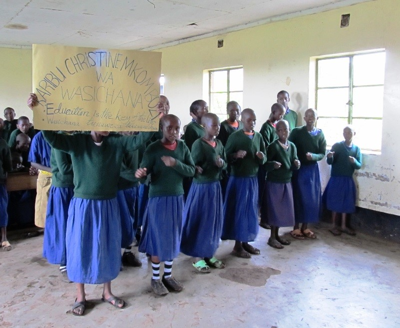 Tanzanian School Girls - Education is the key to life.